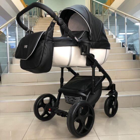 Бебешка количка Kuga 3в1: цвят: черен/бял