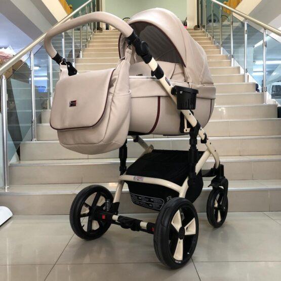 Бебешка количка Kuga 3в1: цвят: крем/ кант бежов