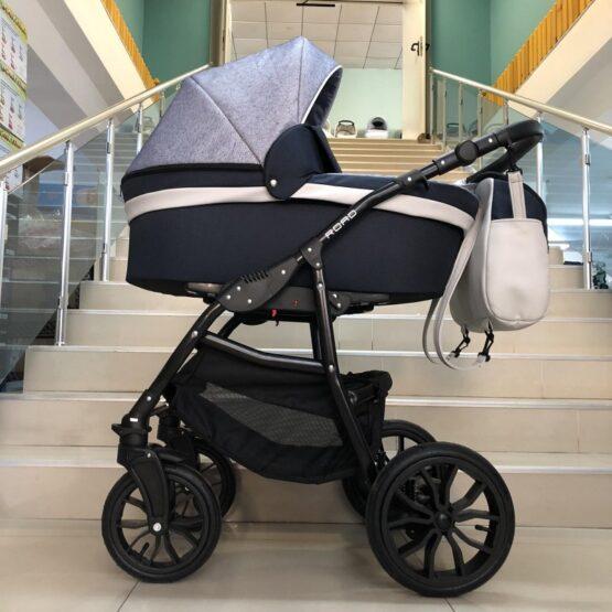 Бебешка количка Road 2в1; цвят: тъмно-син/сив