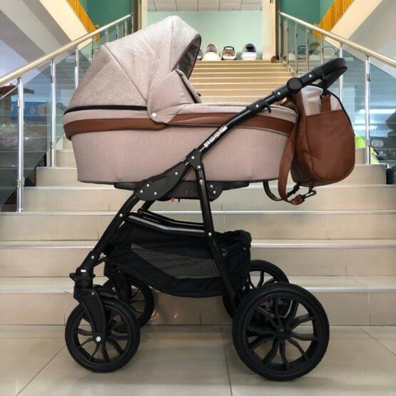 Бебешка количка Road 2в1; цвят: крем/кафяв
