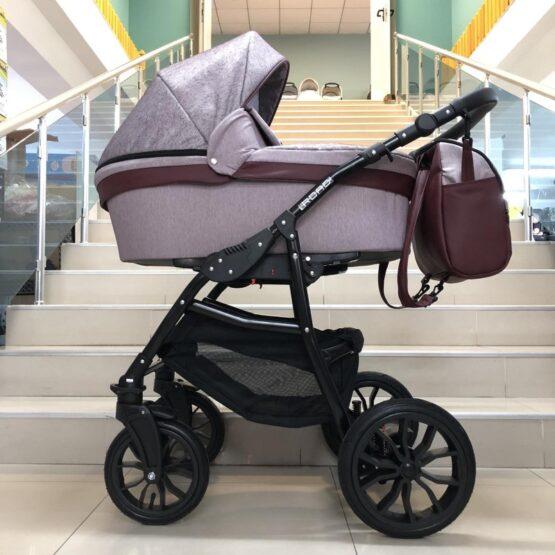 Бебешка количка Road 2в1; цвят: розов/кафяв