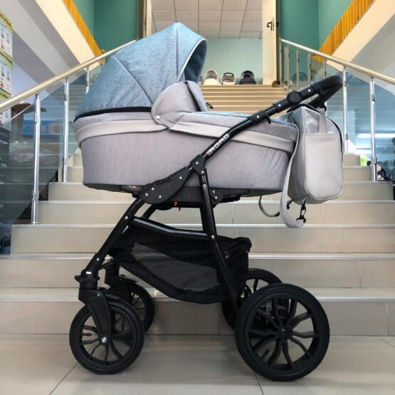 Бебешка количка Road 2в1; цвят: светло-син/сив