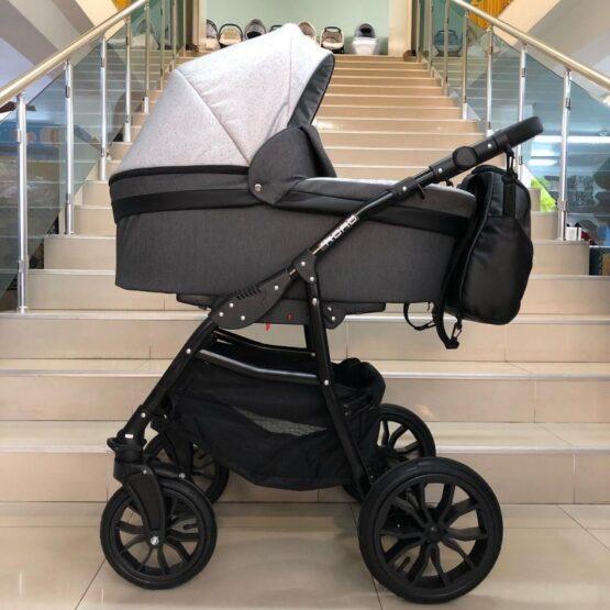 Бебешка количка Road 2в1; цвят: черен/сив