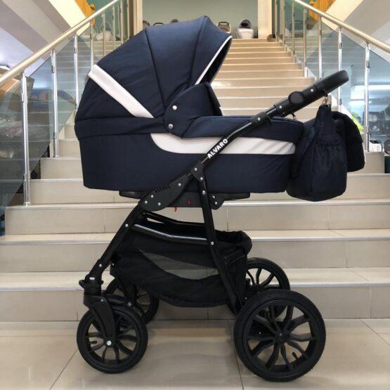 Бебешка количка Alvaro 2в1; цвят: син/бял