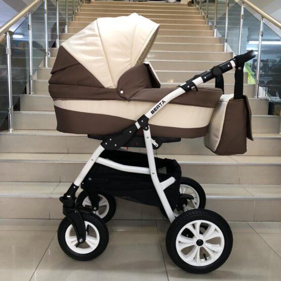 Бебешка количка Berta 2в1; цвят: крем/бял