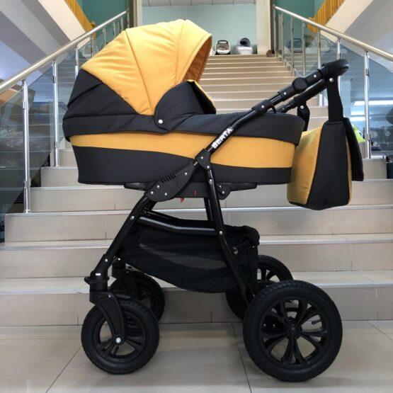Бебешка количка Berta 2в1; цвят: жълт/черен