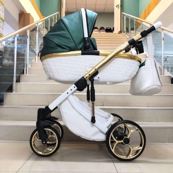Бебешка количка Xsara 2в1: цвят: зелен/бял