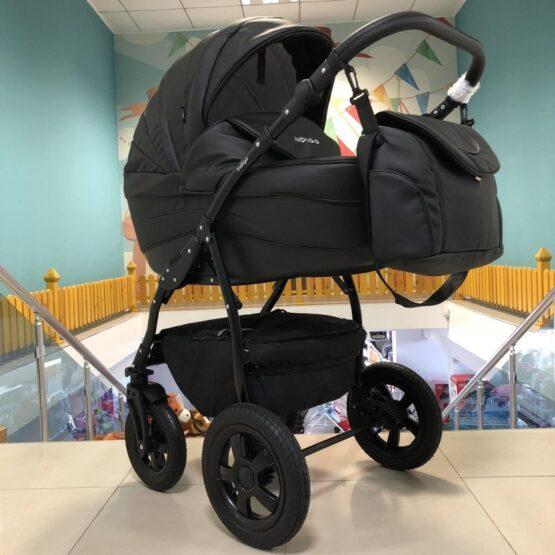 Бебешка количка Indigo SP18: цвят: черен