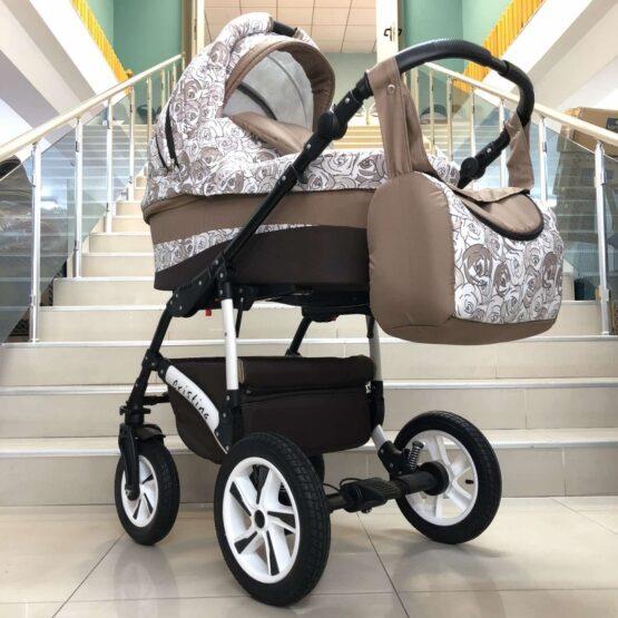 Бебешка количка Cristina 2в1: цвят: бежов/бял