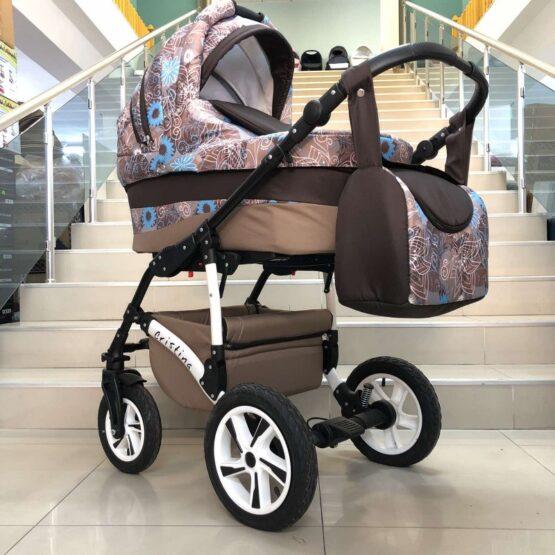 Бебешка количка Cristina 2в1: цвят: кафяв