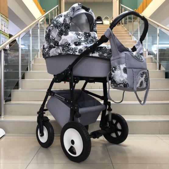Бебешка количка Massimo 2в1: цвят: сив