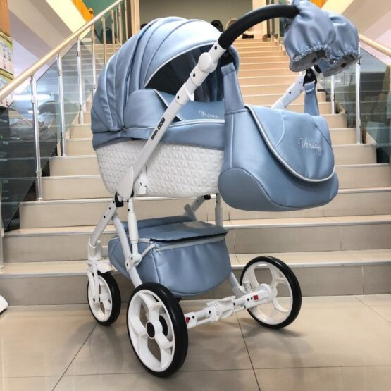 Бебешка количка Versay Prince Diamonds 2в1: цвят: светлосин