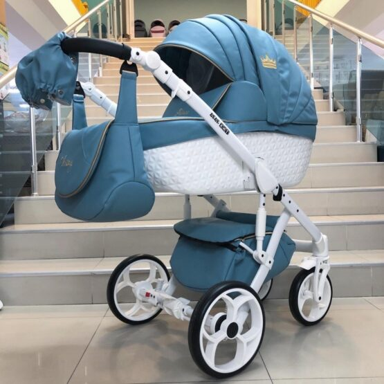 Бебешка количка Versay Prince Diamonds 3в1: цвят: син