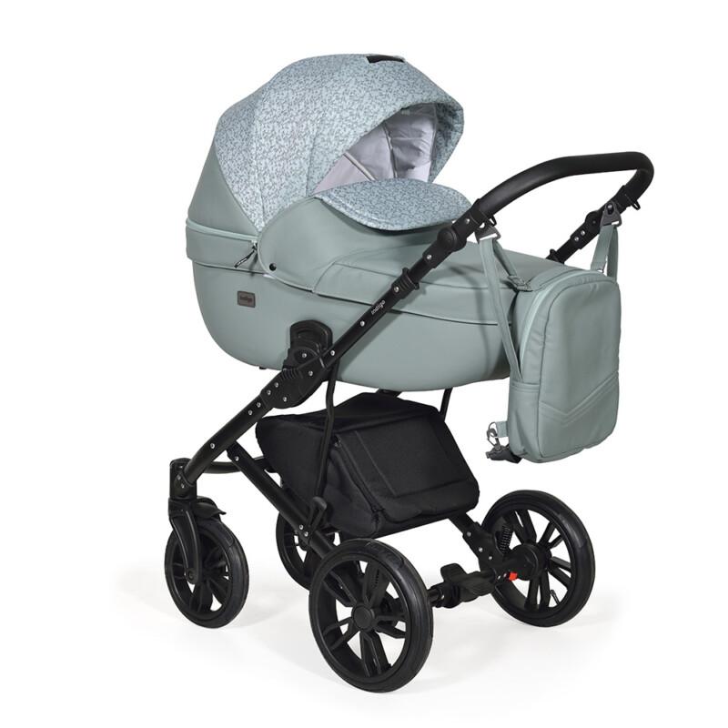 Бебешка количка Mio 3в1; цвят: зелен