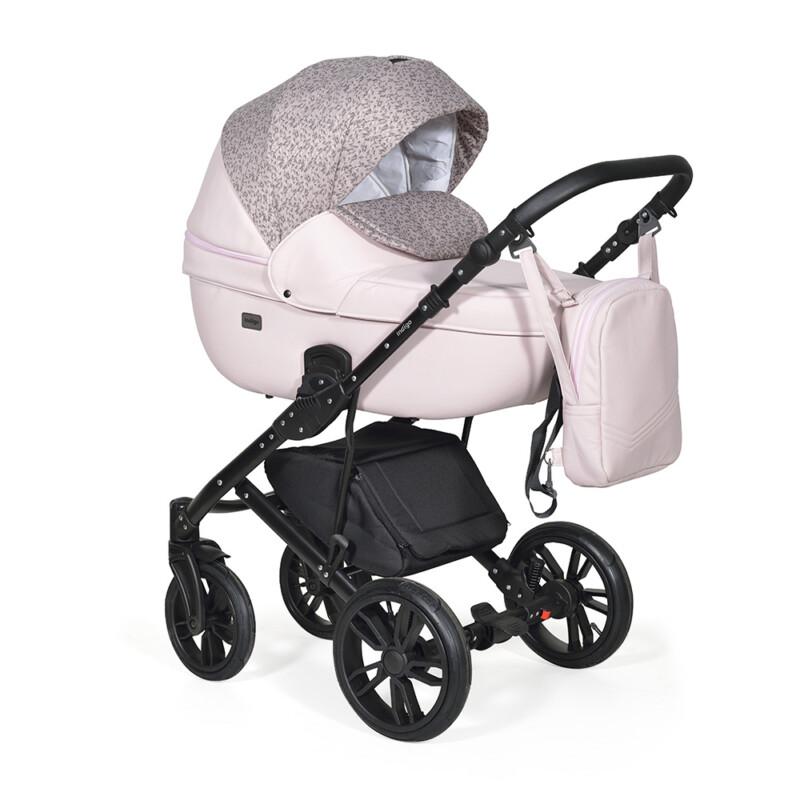 Бебешка количка Mio 3в1; цвят: розов