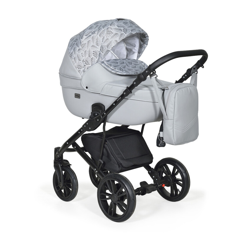 Бебешка количка Mio 3в1; цвят: сив