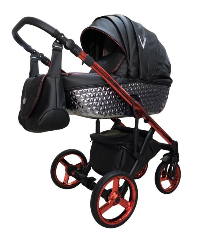 Бебешка количка Versay V Diamond 2в1; цвят: червен