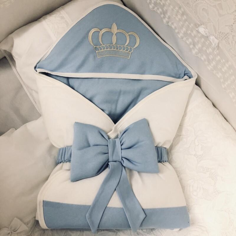 Портбебе корона: цвят: син
