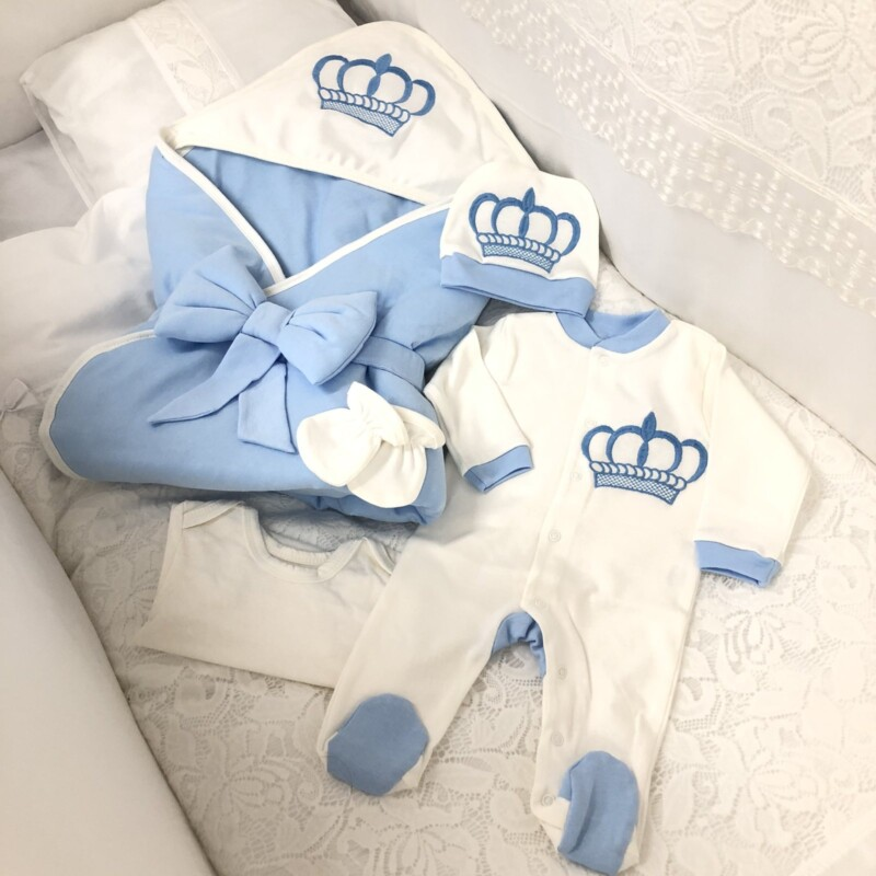 Комплект за изписване Корона: цвят: син