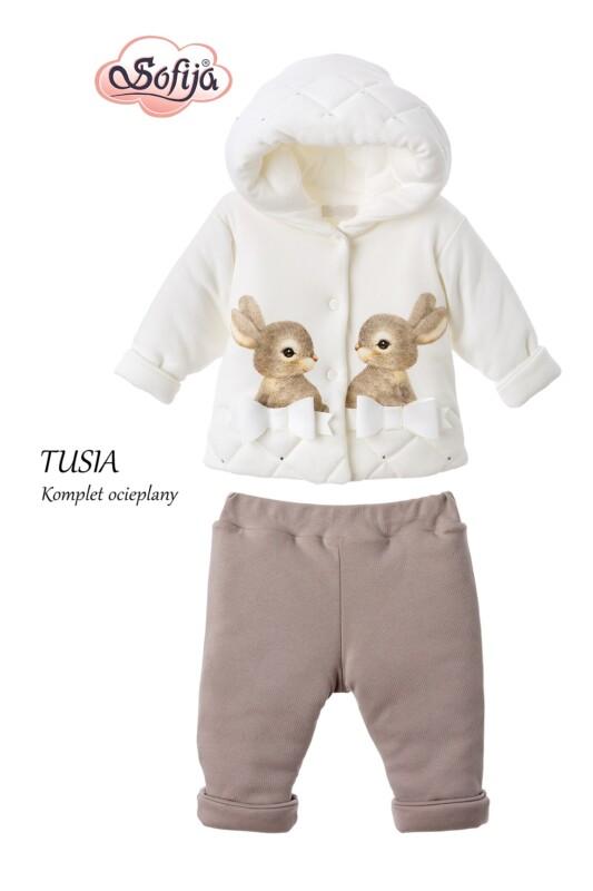 Ватиран комплект Tusia: цвят: екрю